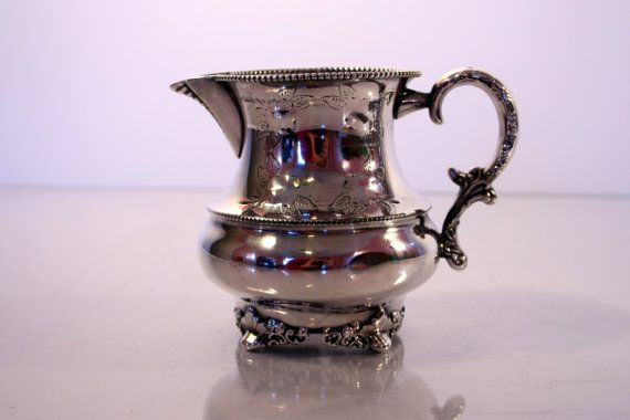 Antique Adelphi Silverplate Company Creamer  by Revendeur on Etsy