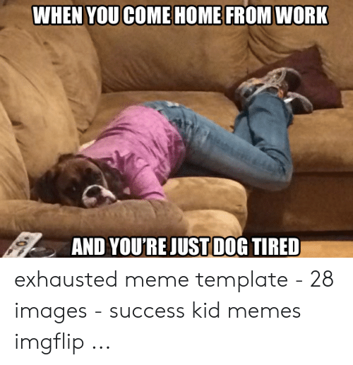 WHEN YOU COME HOME FROM WORK AND YOURE JUST DOG TIRED