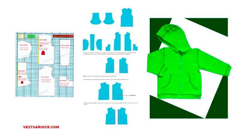 jacket o abrigo talla 4 para niños de 4 a 5 años | patron gratis ...