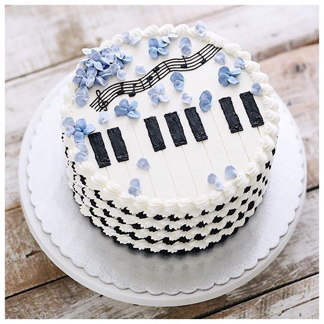You Are Like My Favorite Song Buttercream Cake Designs Music Cakes Music Themed Cakes