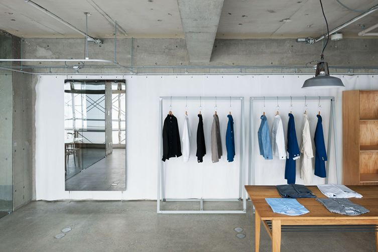 Fashion Brand Eel S Stark Tokyo Office Conversion Does Away With The Carpet Tiles Shop Interiors Retail Design Interior