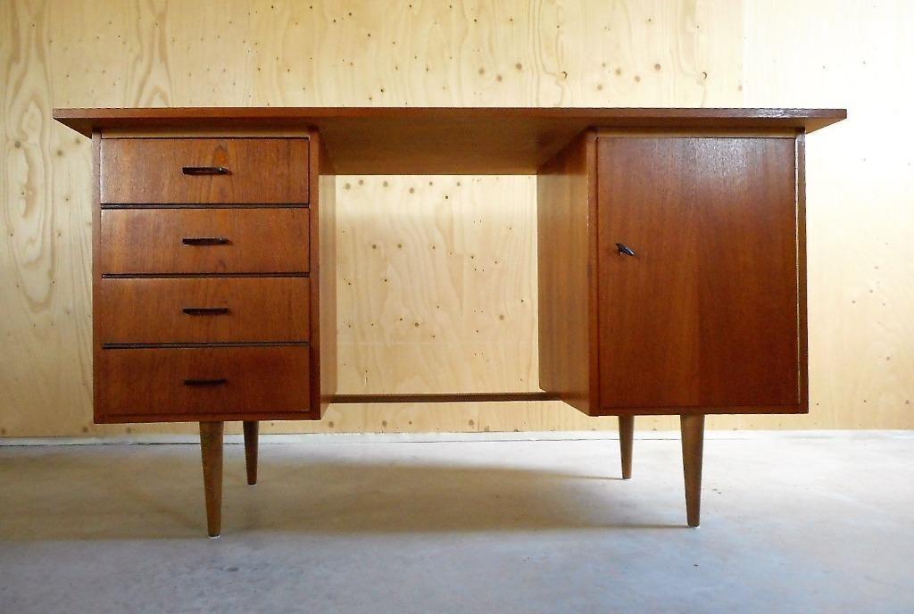 Bureaustoel Kopen Marktplaats.Vintage Deens Design Teak Bureau Jaren 60 Bureaus En