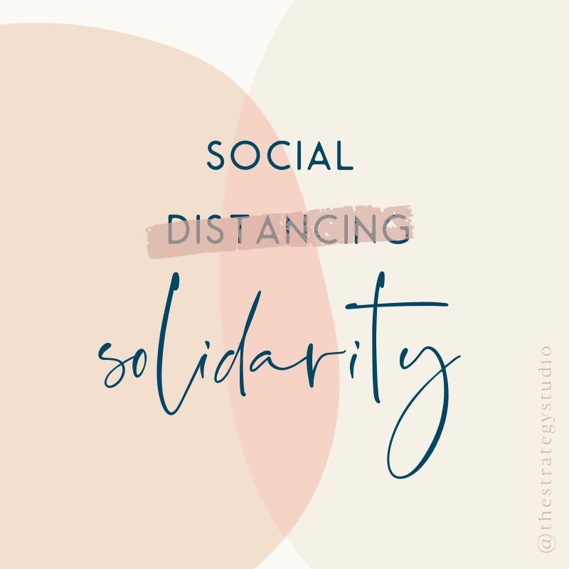 #socialdistancing #socialsolidarity #supportsmallbusiness #smallbusinessstrong