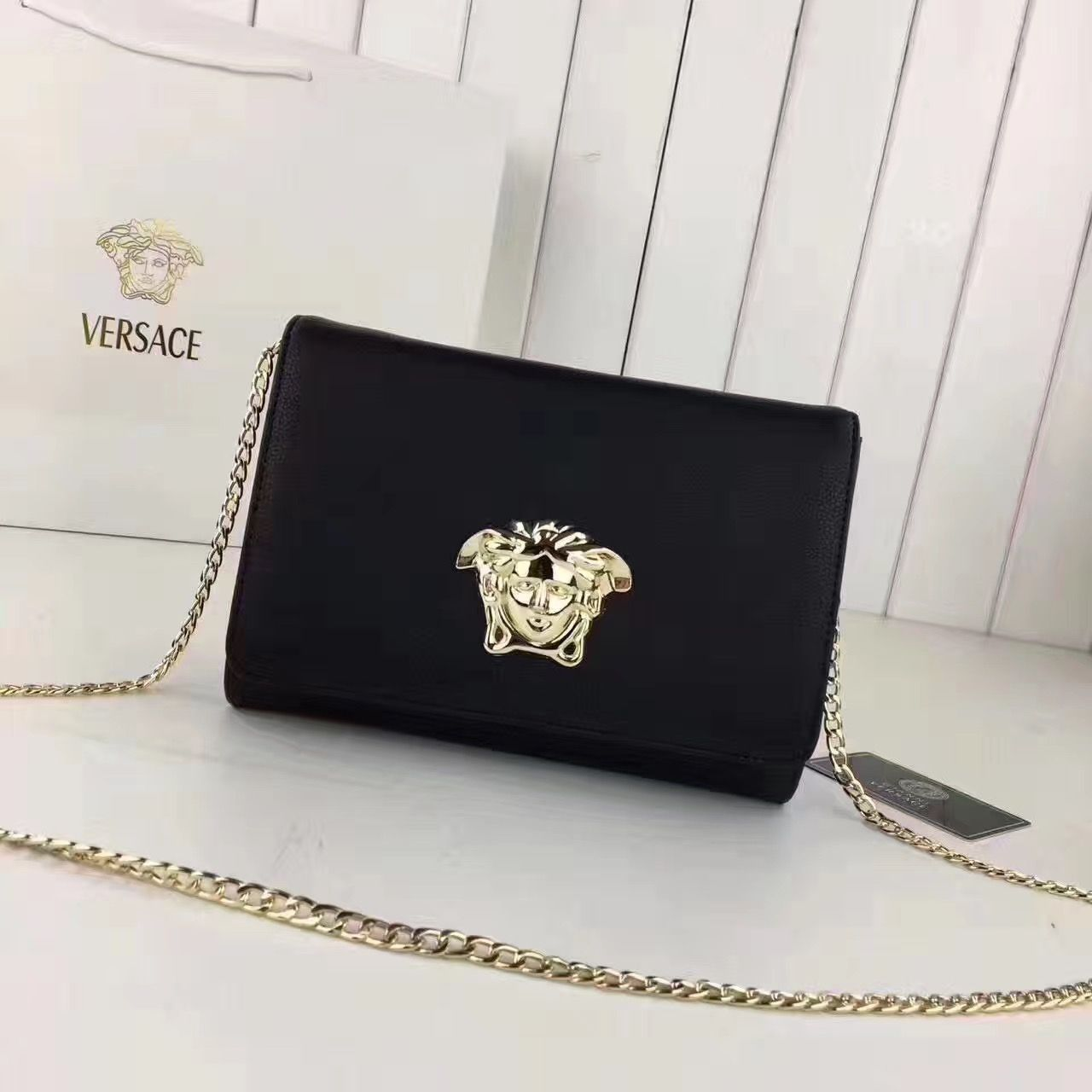 3b5002968d0 Versace Medusa Head Evening Clutch Bag 100% Authentic   Versace ...