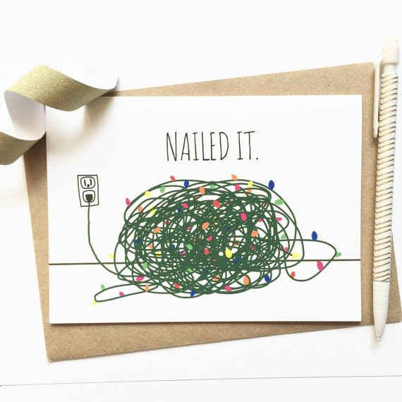 For the walking Pinterest fail. Awesome christmas cards :3                                                                                                                                                                                 More