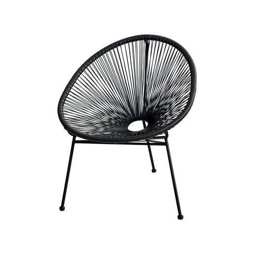 fauteuil esteban acier et polythylne x x h with foir fouille salon jardin. Black Bedroom Furniture Sets. Home Design Ideas