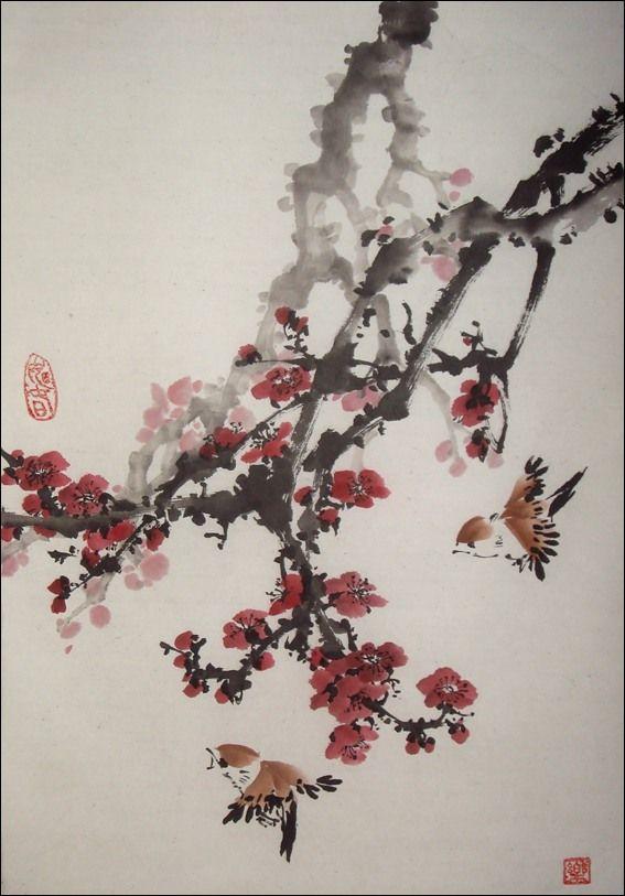японская живопись тушью - Поиск в Google