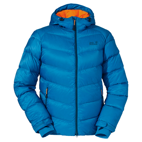 Particularly warm, windproof and water repellent down jacket