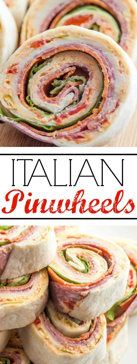 Italian Pinwheels |A deliciously fun appetizer for your game day, holiday or party needs, these Italian Pinwheels are tasty, fast and a fun addition to your meal! |