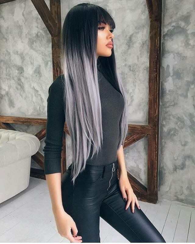 Tie And Dye Gris Sublime Hair Styles Long Hair Styles Grey