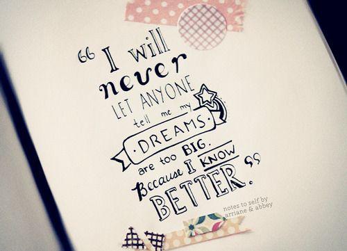 Inspirational Dream Quotes Tumblr