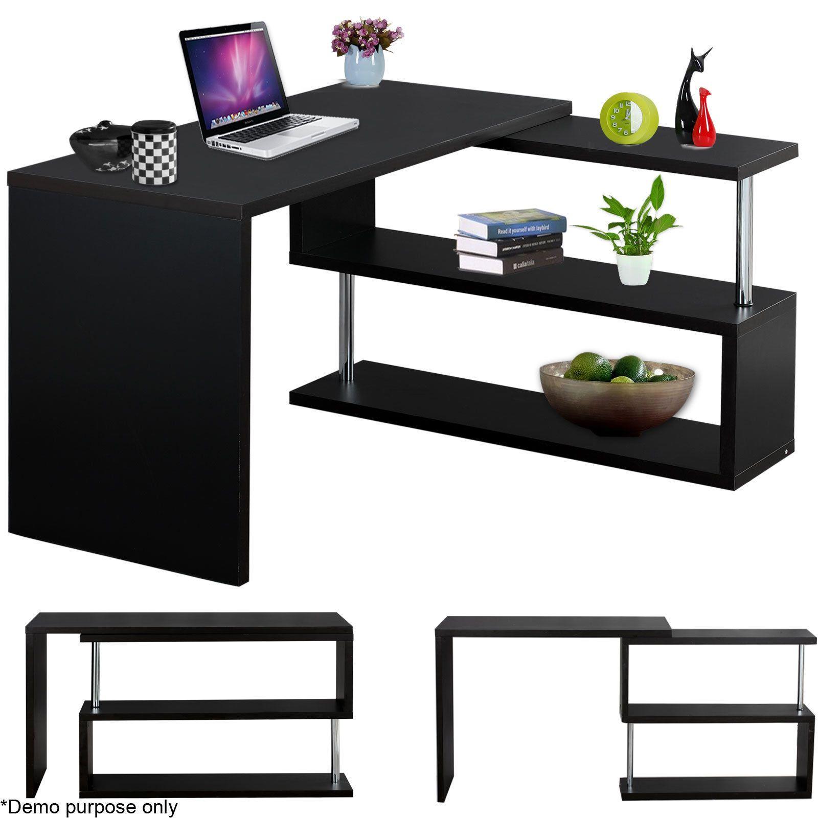 ebay office desks. home office desk computer pc laptop writing table l-shape workstation furniture | ebay ebay desks
