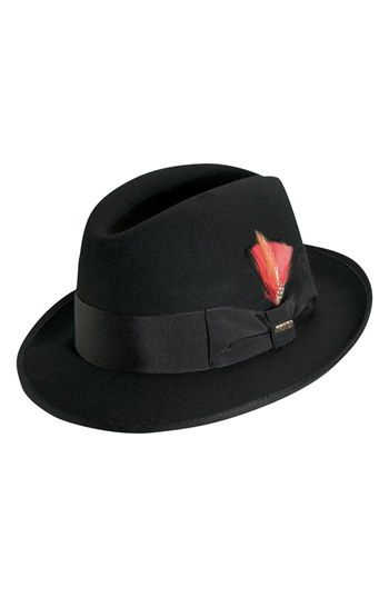 Men s Scala  Classico  Wool Felt Fedora - Black  b678af98d5b1