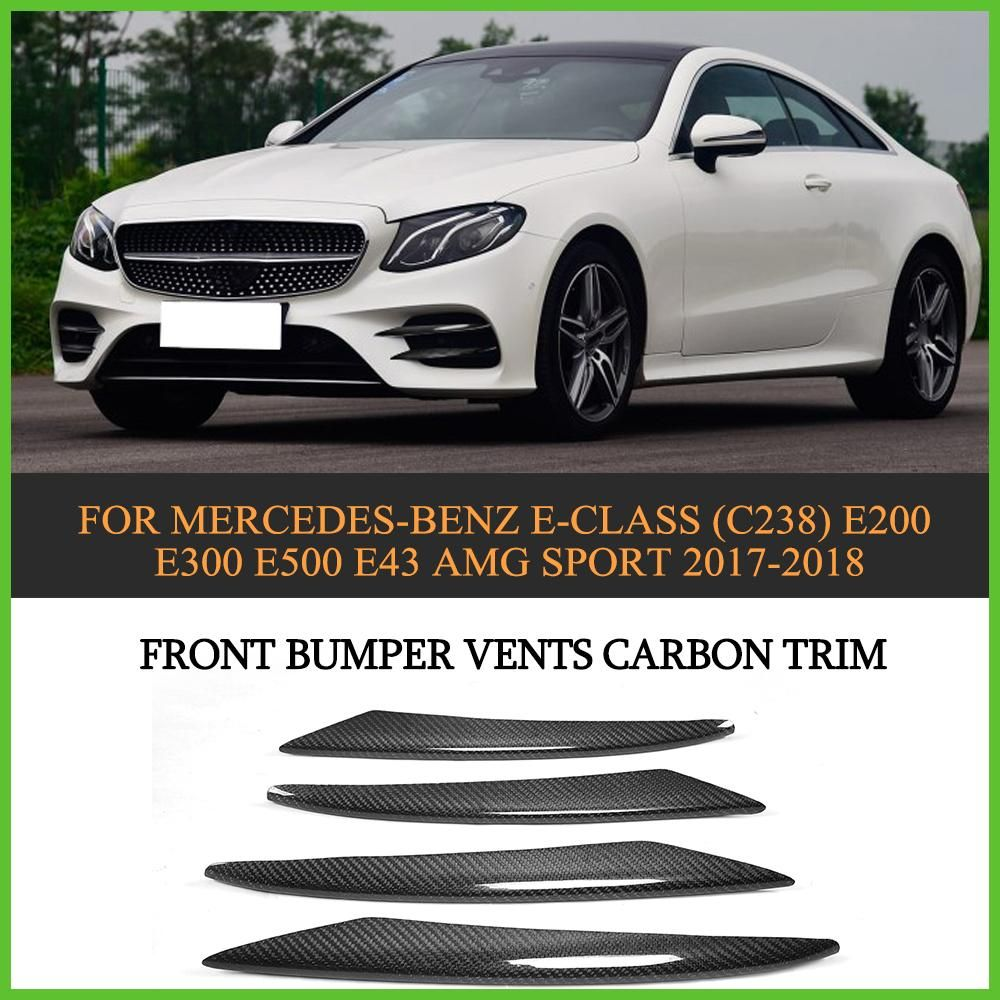 Front  Bumper Splitter Fins For Benz E-Class C238 E200 E300 AMG Sport 17-18