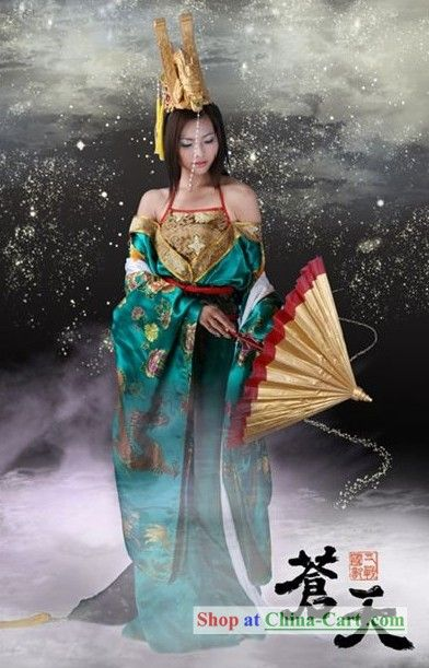 9a99af7be72bd Chinese Ancient Dragon Lady Cosplay Costume | Traditional Fashion ...