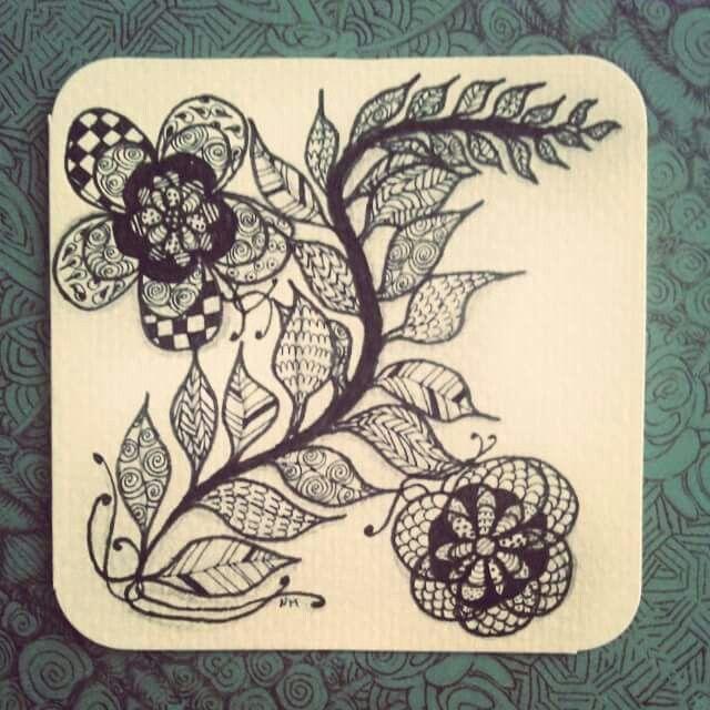 Vine \u0026Blossoms newcreation drawing zen zentangle