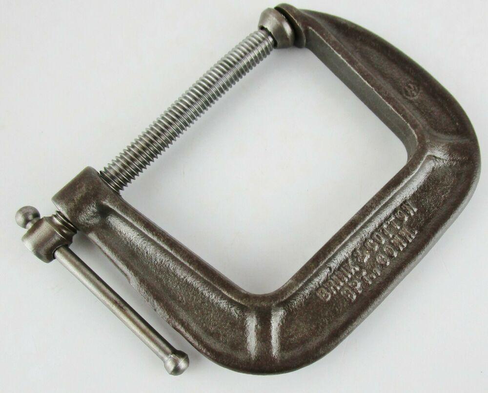 Vintage Brink And Cotton No 142 Metal C Clamp 1 2 2 1 2 Inch Usa Conn Tool Brinkcotton Metal Clamp Clamp Tool