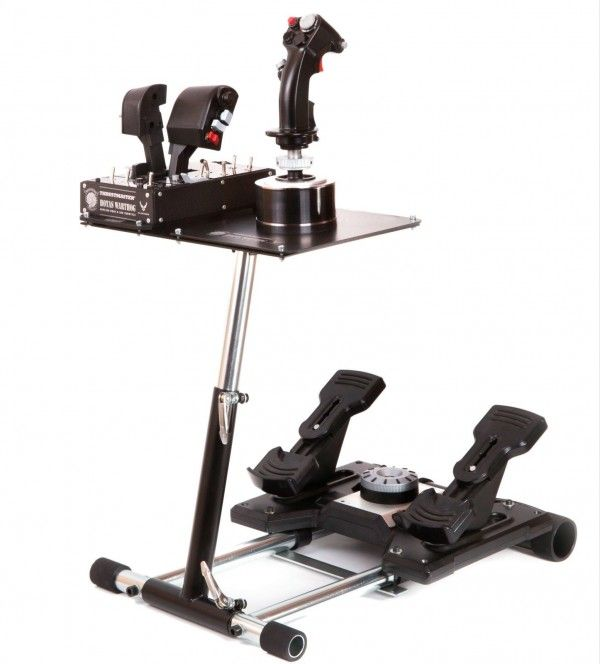 Wheel Stand Pro V2 for the Thrustmaster HOTAS Warthog throttle and Stick + Saitek Pro Flight or Saitek Combat rudder pedals  available  in the US $184.99 and the UK £94.00. for more info go to  www.freeonlineflightsimulator.com
