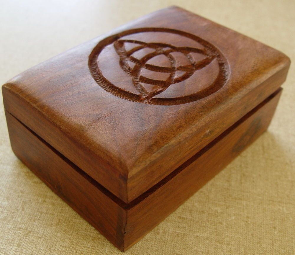 Details About Goddess Glass Topped Wooden Tarot Box Wicca Witch