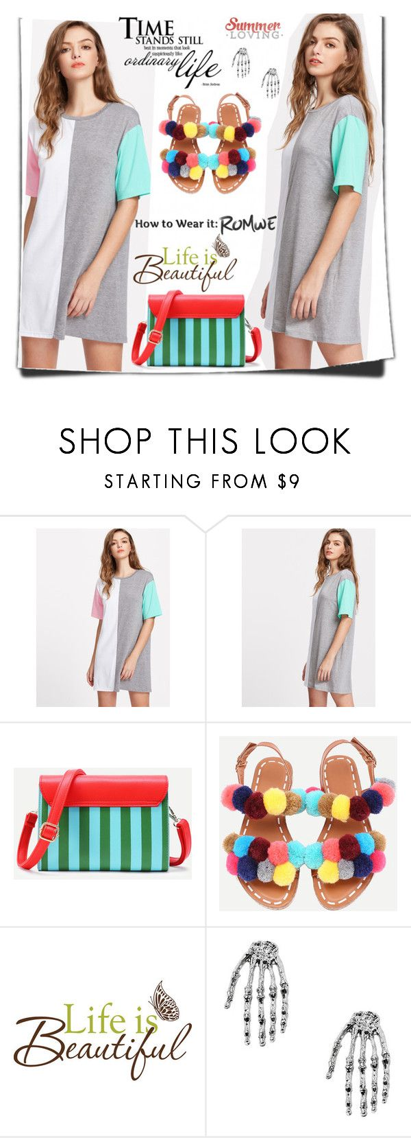 """""""Romwe 6"""" by amrafashion ❤ liked on Polyvore featuring Wall Pops!"""