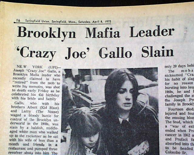 Hit on Joe Gallo, from Joe Columbo supporters