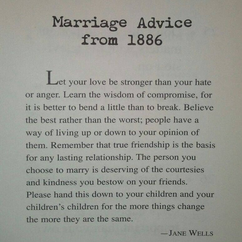 marriage advice from 1886 not just marriage advice but