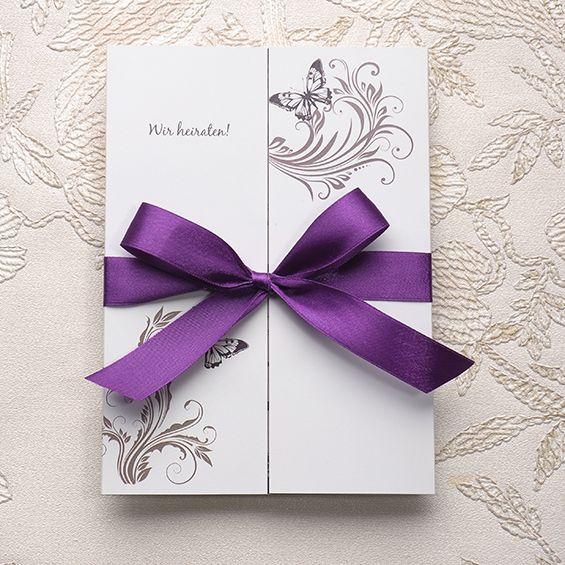 Charming Einladungskarten Hochzeit Lila #7: Neue Einladungskarten Für Hochzeit 2015 Sind Jetzt Beim Onlineshop  Verfügbar! | Hochzeitsblog Optimalkarten #weddinginvitations