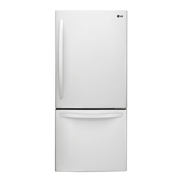 Lg 22 1 Cu Ft Bottom Freezer Refrigerator Fingerprint Resistant