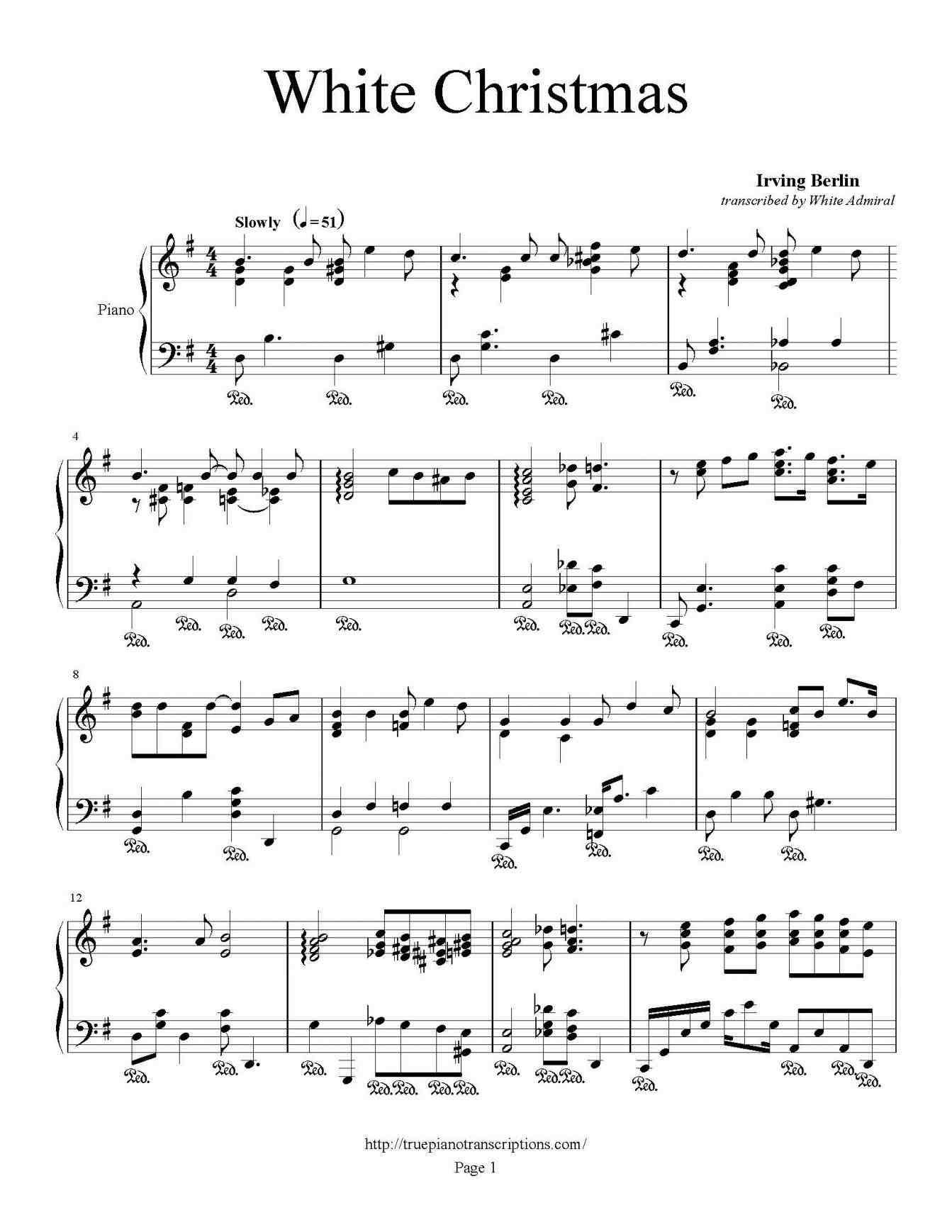 New Post i\'m dreaming of a white christmas sheet music | xmast ...