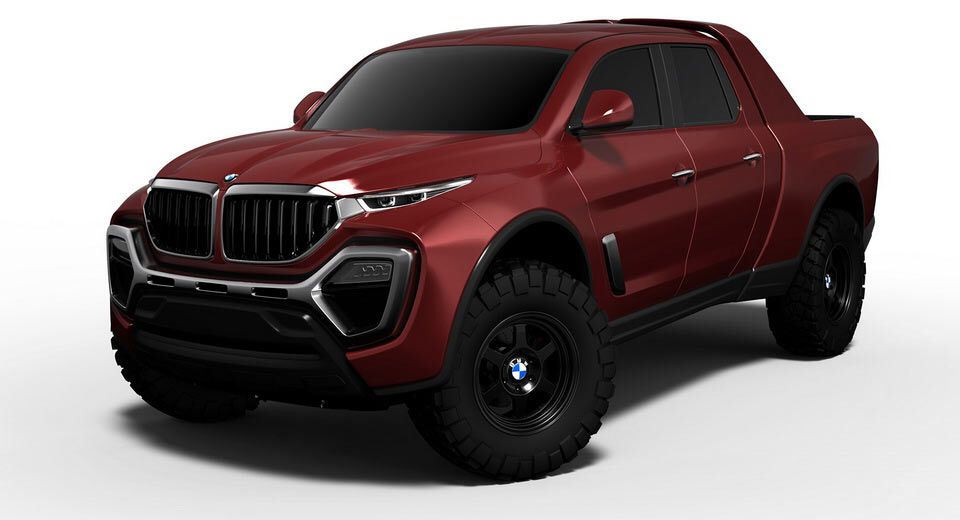 A Bmw Pickup Truck Design Study That Doesn T Look Half Bad Carscoops Pickup Trucks Bmw Truck Pickup Trucks Camping