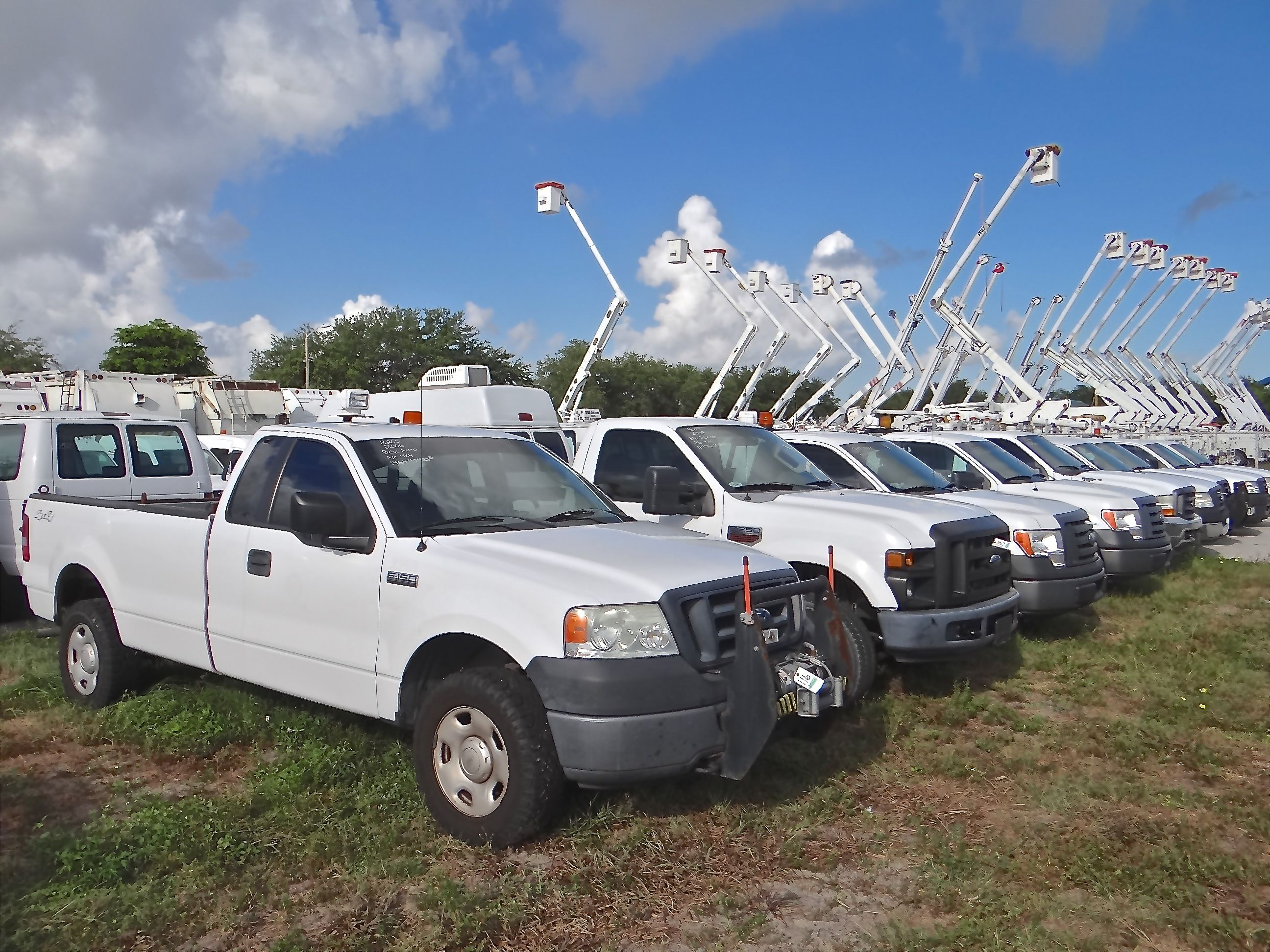 Fleet Owners Such As Fpl And Area Contractors And Rental Fleets Sell Surplus And Retiring Vehicles And Equipment Through Riviera Beach Rapids Water Park Fleet