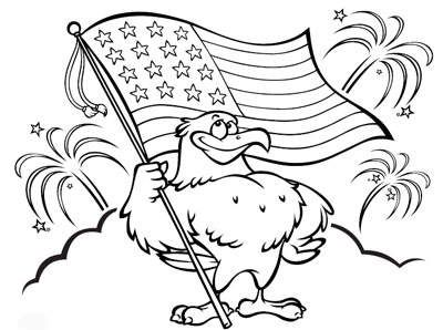 Patriotic Coloring page | School | Pinterest | Craft decorations ...