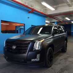 Carswithoutlimitss Photo Check Our Hydrosautospa O 2015 Cadillac Escalade Wrapped In Satin Black With Gloss Accents