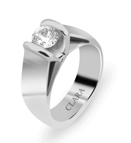 edc34a4cb325 High Rise Sterling  Silver  Swarovski  Ring - CSWZR8  mens rings ...