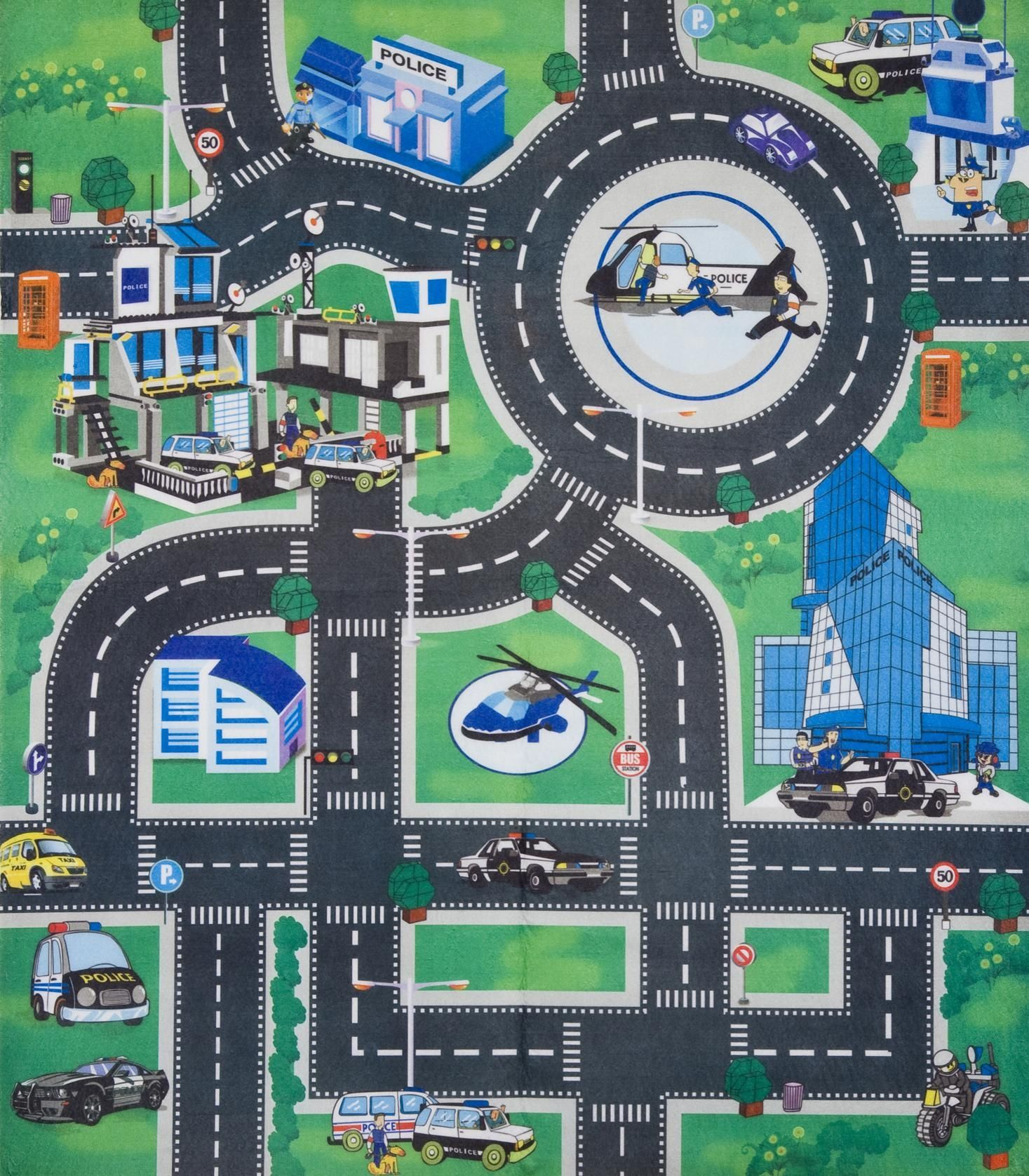 kids childrens boys car road play mat roll up bithday xmas gift role play toy