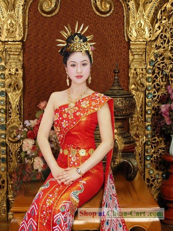 Traditional Thai Wedding Pea Dress