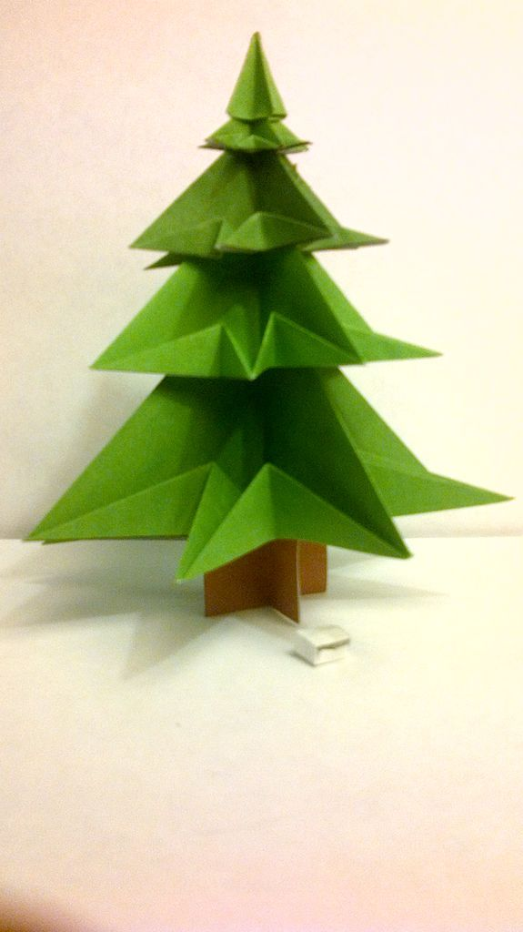 Origami Christmas Tree Made From 1 A4 Sheet And Template Origami Christmas Tree Christmas Tree Template Christmas Origami