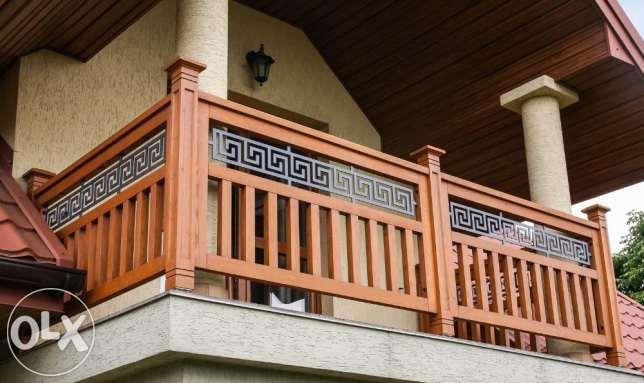 550 zł: Wykonamy na zamówienie balustrady balkonowe i  przęsła do ogrodzeń.   Połączenia elementów na gniazdo-czop + klej poliuretanowy wodoodporny. Brak widocznych łączników typu śruba, wkręt. Balustrada z...