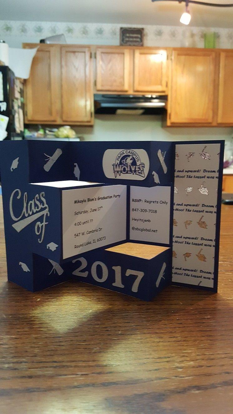 Tri shutter graduation party invitation Also used my