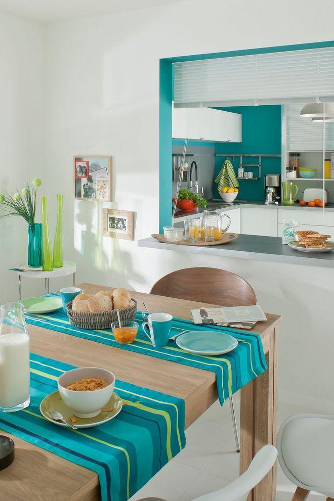 Cuisine semi-ouverte avec un passe-plat home Pinterest House