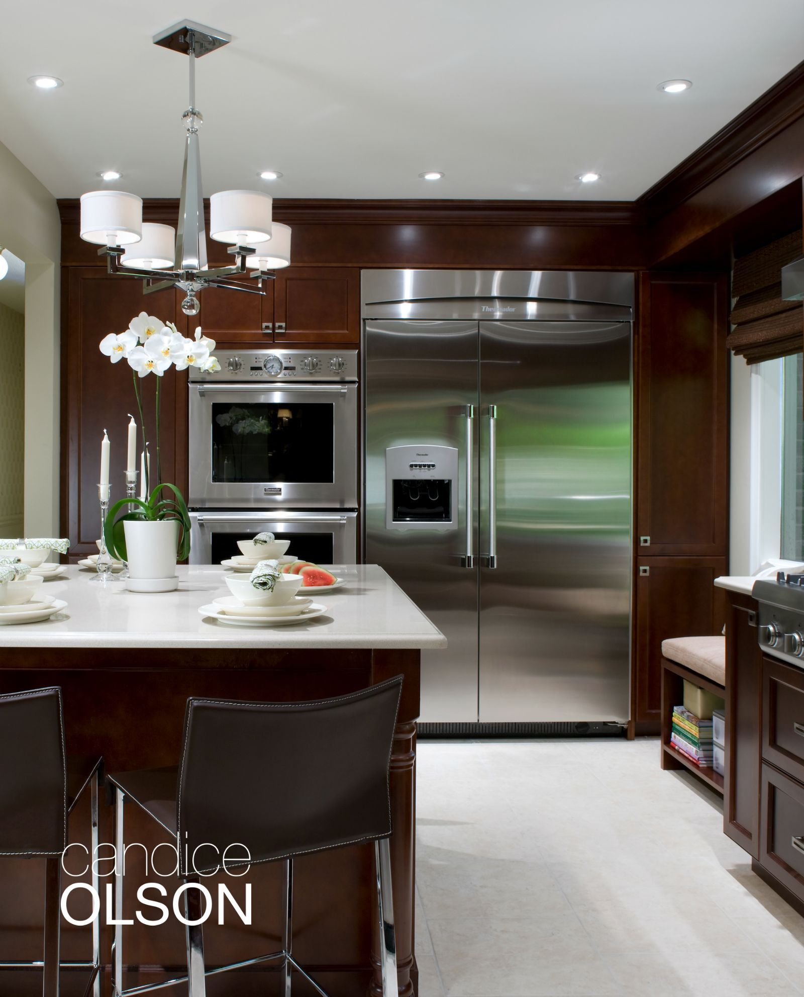 Mid Level Kitchen Cabinets Kohler Brass Faucet Creating Layers Of Lighting With Ambient And
