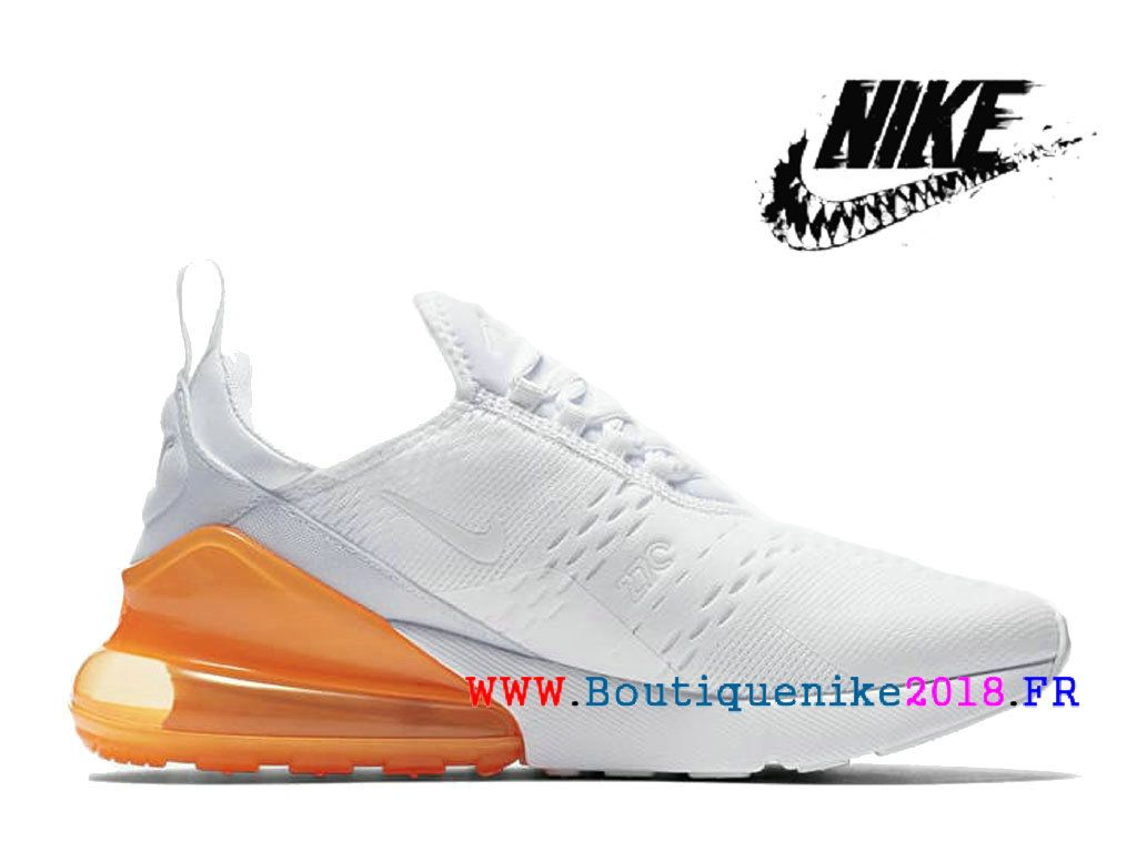 check out 6433f e6968 Nike Air Max 270 Basketball Chaussures Pas Cher Prix Homme Blanc   orange  AH8050-102