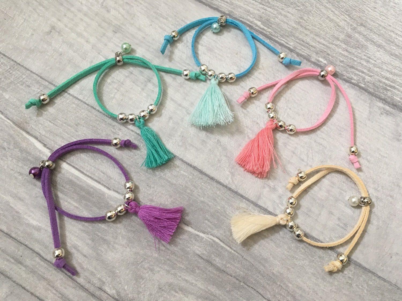 Tassel friendship bracelets girls bracelet tassel bracelet suede