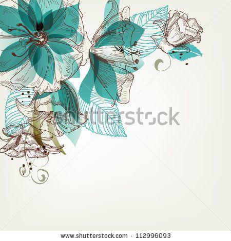 Retro Flowers Vector Illustration - 112996093 : Shutterstock