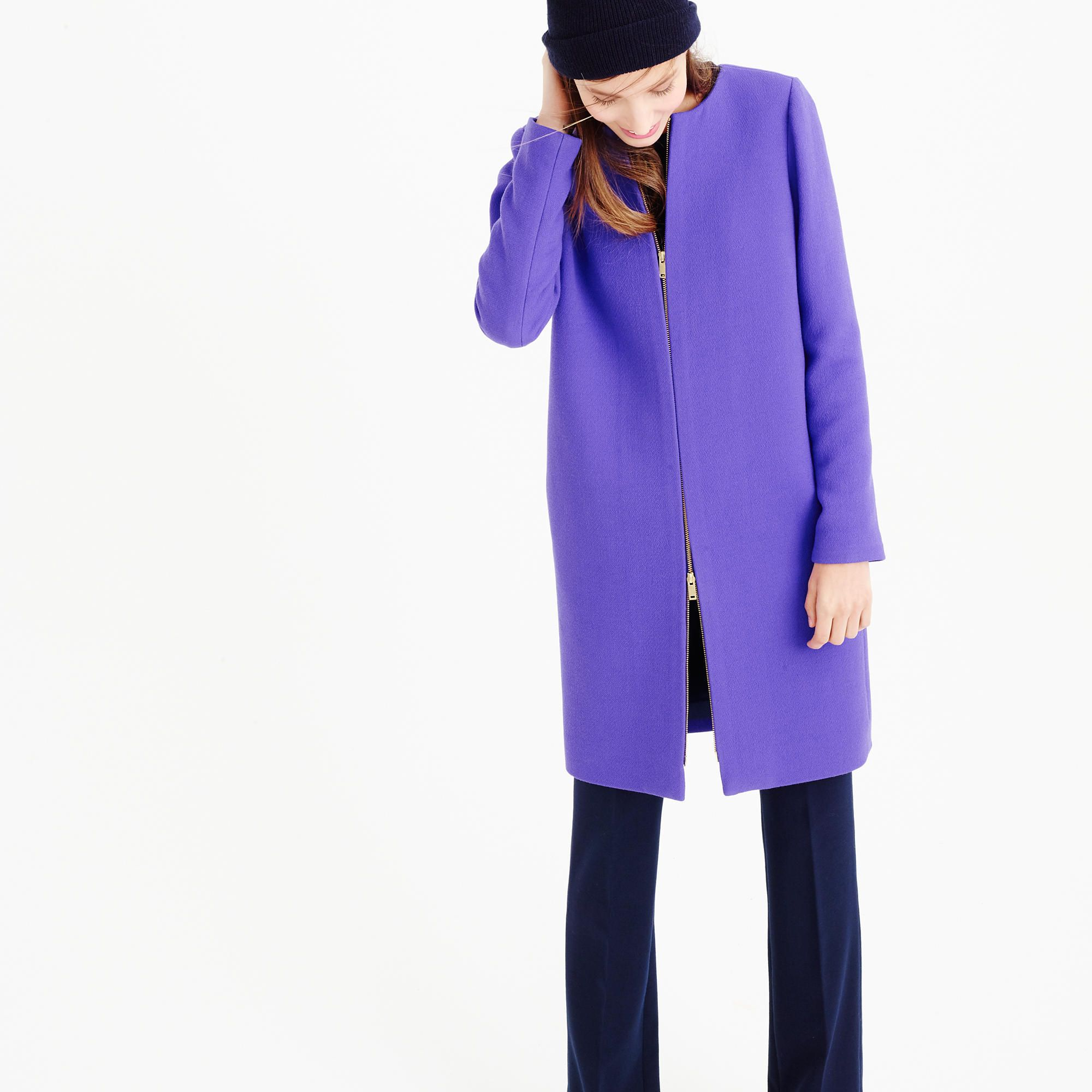 This radiant purple brings life to our winter wardrobe