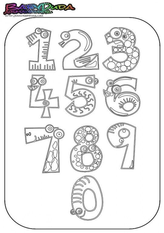 Ausmalbilder Zahlen & Vorlagen zum Zählen lernen