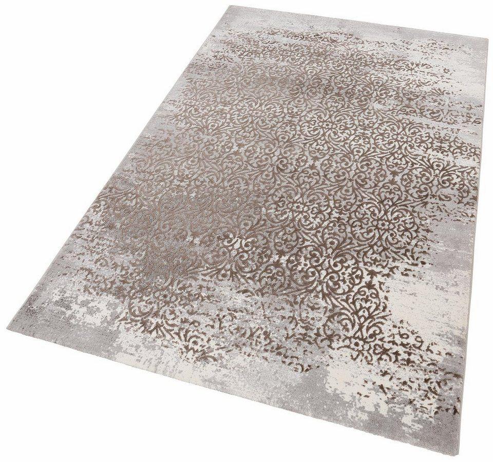 Teppich Gayla Merinos Rechteckig Höhe 12 Mm Vintage Design Hoch Tief Effekt Wohnzimmer Online Kaufen Otto Teppich Teppich Braun Vintage Teppiche