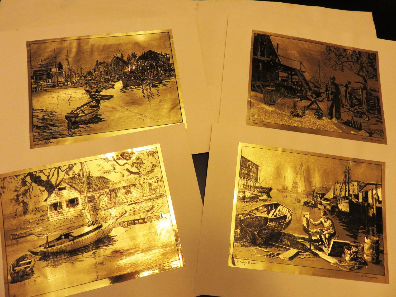 Lionel barrymore collectors portfolio of gold etch prints