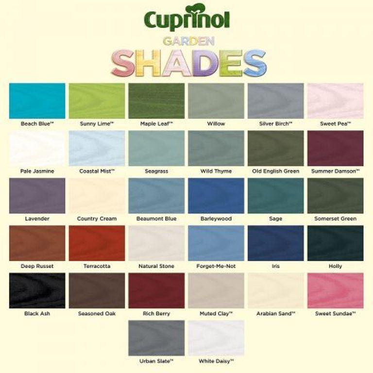 Cuprinol Cuprinol Garden Shades Shed Colours Painted Garden Sheds