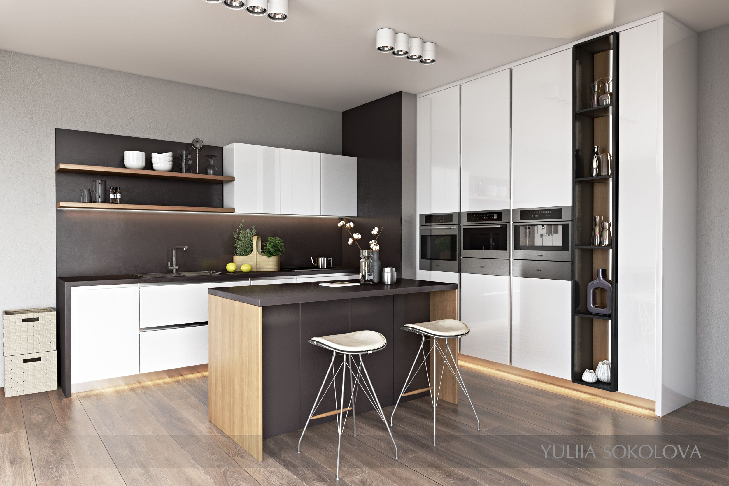 This kitchen was created for the young family simplicity of the